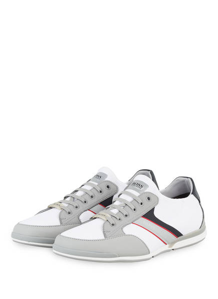 BOSS Slip-on-Sneaker SATURN SLON , Farbe: WEISS/ GRAU (Bild 1)