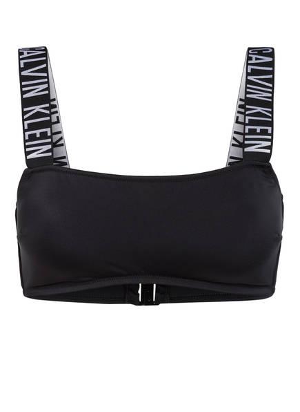 Calvin Klein Bustier-Bikini-Top INTENSE POWER , Farbe: SCHWARZ/ WEISS (Bild 1)