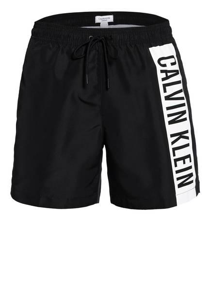 Calvin Klein Badeshorts INTENSE POWER , Farbe: SCHWARZ/ WEISS (Bild 1)