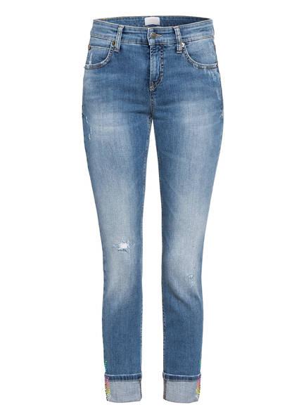 CAMBIO Jeans mit Swarovski Kristallen, Farbe: 5151 MEDIUM VINTAGE DESTROYED (Bild 1)