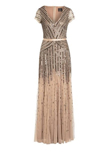 ADRIANNA PAPELL Kleid mit Paillettenbesatz, Farbe: BEIGE (Bild 1)