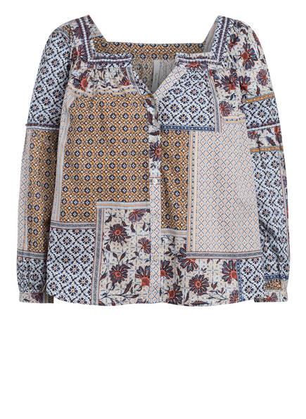 Pepe Jeans Bluse NAOMI mit Schmucksteinbesatz, Farbe: CREME/ CAMEL/ DUNKELBLAU (Bild 1)