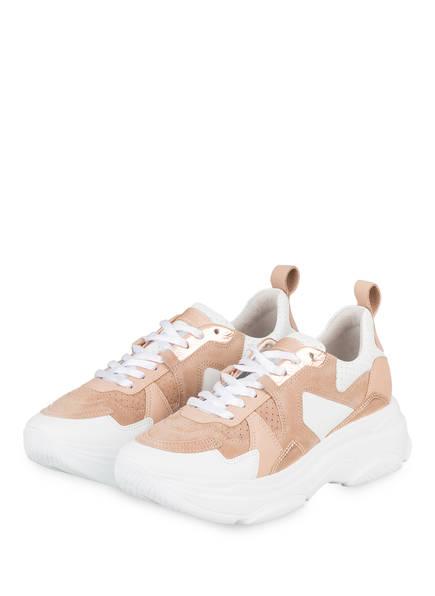 KENNEL & SCHMENGER Plateau-Sneaker, Farbe: WEISS/ NUDE (Bild 1)