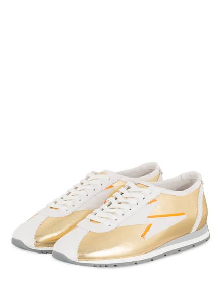 KENNEL & SCHMENGER Sneaker STRIKE, Farbe: GOLD/ WEISS/ NEONORANGE (Bild 1)
