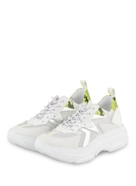 KENNEL & SCHMENGER Plateau-Sneaker CLOUD, Farbe: WEISS/ NEONGELB/ SILBER (Bild 1)