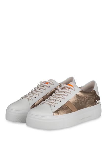 KENNEL & SCHMENGER Plateau-Sneaker BIG, Farbe: WEISS/ GOLD (Bild 1)