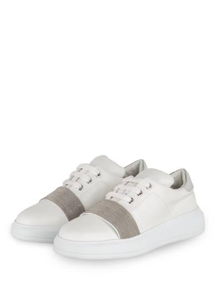 STEFFEN SCHRAUT Plateau-Sneaker 24 CHAIN BLVD , Farbe: WEISS/ SILBER (Bild 1)