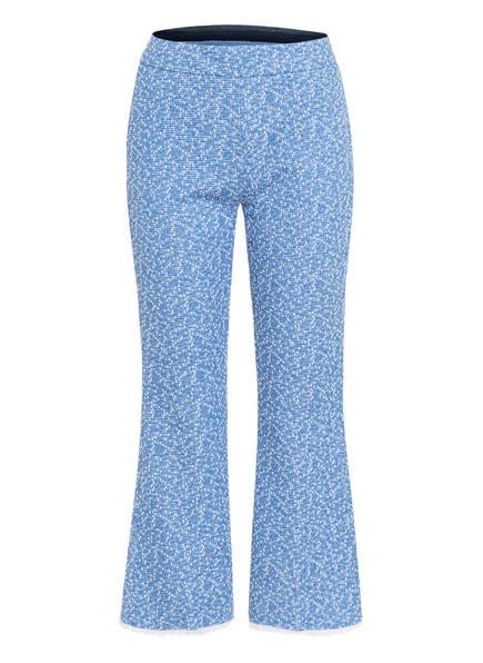 SEM PER LEI 7/8-Hose aus Bouclé, Farbe: BLAU/ WEISS (Bild 1)