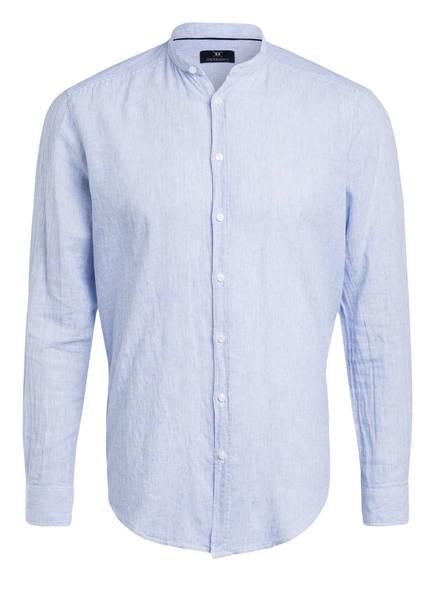 STROKESMAN'S Hemd Slim Fit mit Leinen, Farbe: BLAU/ WEISS (Bild 1)