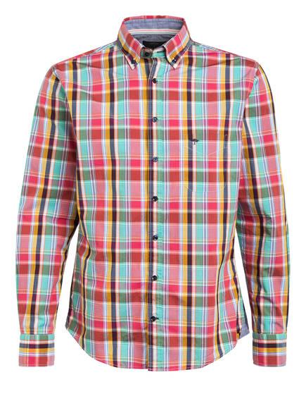 FYNCH-HATTON Hemd Casual Fit, Farbe: HELLROT/ BLAU/ GRÜN  (Bild 1)