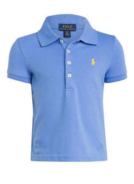 POLO RALPH LAUREN Piqué-Poloshirt, Farbe: BLAU (Bild 1)