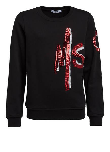 MSGM KIDS Sweatshirt mit Paillettenbesatz, Farbe: SCHWARZ (Bild 1)