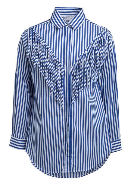MSGM KIDS Bluse, Farbe: BLAU/ WEISS GESTREIFT (Bild 1)