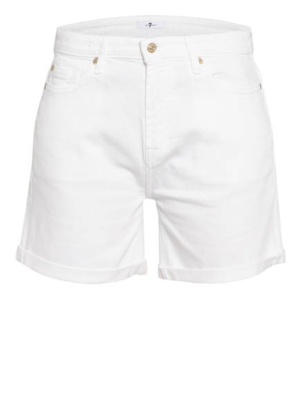 7 for all mankind Jeans-Shorts BOY, Farbe: COMFORT STRETCH PURE WHITE  (Bild 1)