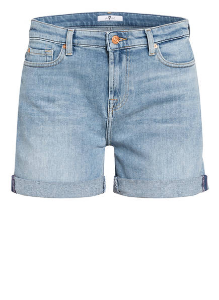 7 for all mankind Jeans-Shorts BOY, Farbe: BLURRED LIGHT BLUE (Bild 1)