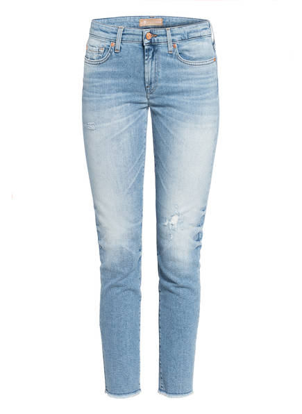 7 for all mankind Jeans PYPER CROP Skinny Fit, Farbe: LUXE VINTAGE BLUE EYES LIGHT BLUE (Bild 1)