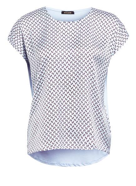 MORE & MORE Blusenshirt im Materialmix , Farbe: BLAU/ WEISS (Bild 1)