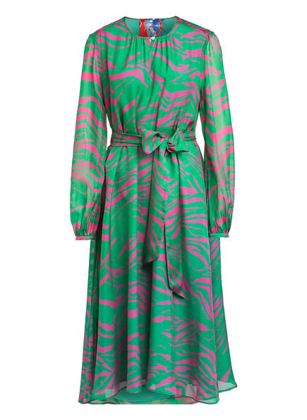 Anni Carlsson Seidenkleid SILLY, Farbe: GRÜN/ PINK (Bild 1)