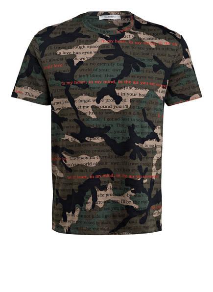 VALENTINO T-Shirt CAMOULOVE, Farbe: OLIV/ KHAKI/ SCHWARZ (Bild 1)