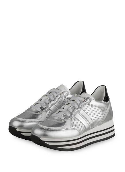 NO CLAIM Plateau-Sneaker NOEMI 5, Farbe: SILBER (Bild 1)