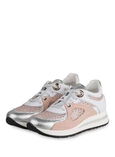 NO CLAIM Plateau-Sneaker MINA 3, Farbe: WEISS/ NUDE (Bild 1)