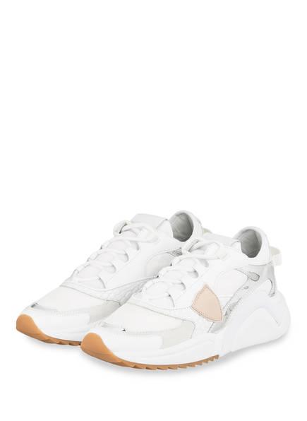 PHILIPPE MODEL Plateau-Sneaker EZE, Farbe: WEISS/ SILBER (Bild 1)