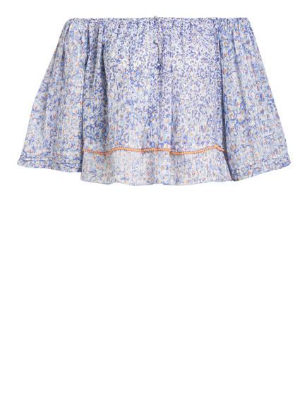 Poupette St Barth Off-Shoulder-Bluse MYA, Farbe: BLAU (Bild 1)