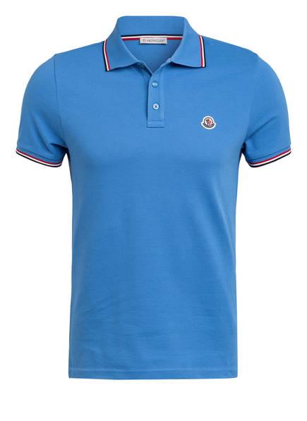 MONCLER Piqué-Poloshirt, Farbe: BLAU (Bild 1)