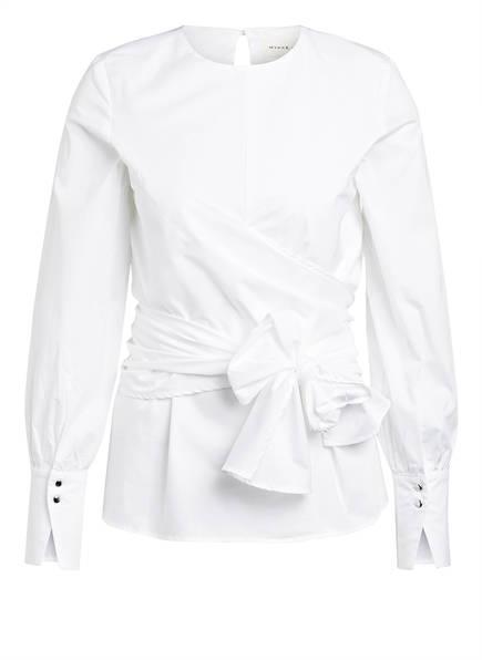 MYKKE HOFMANN Blusenshirt TAYEN in Wickeloptik, Farbe: WEISS (Bild 1)