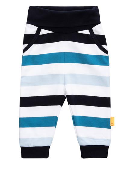 Steiff Sweatpants, Farbe: WEISS/ HELLBLAU/ DUNKELBLAU GESTREIFT (Bild 1)