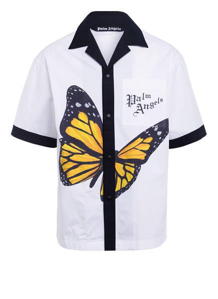 Palm Angels Resorthemd Comfort Fit, Farbe: WEISS/ SCHWARZ/ GELB (Bild 1)
