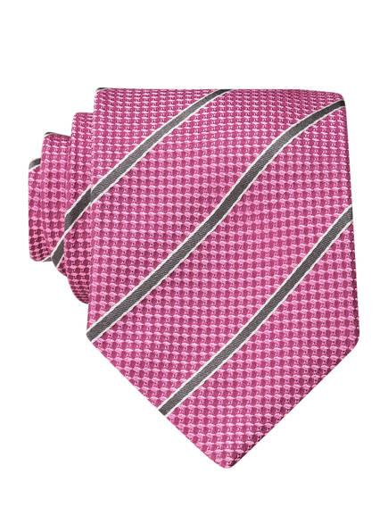 HUGO Krawatte, Farbe: PINK/ GRAU (Bild 1)