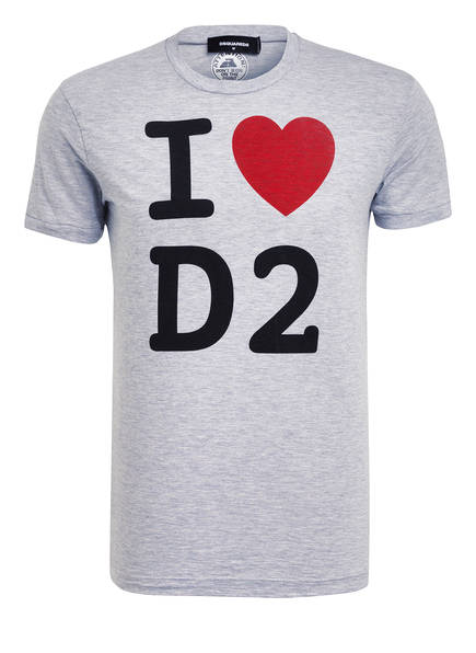 DSQUARED2 T-Shirt, Farbe: HELLGRAU MELIERT (Bild 1)