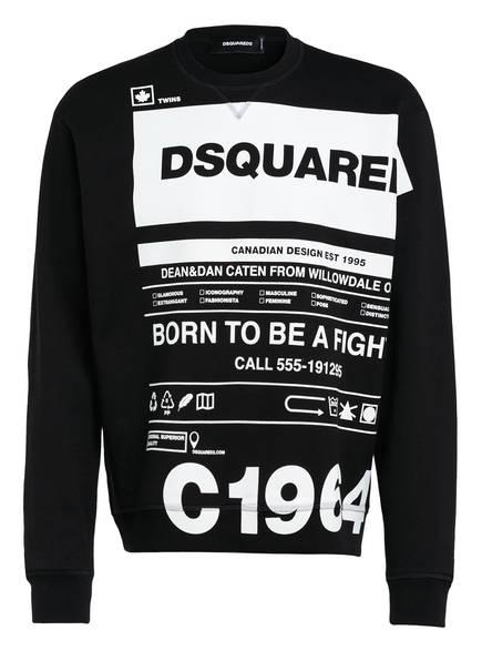 DSQUARED2 Sweatshirt, Farbe: SCHWARZ/ WEISS (Bild 1)