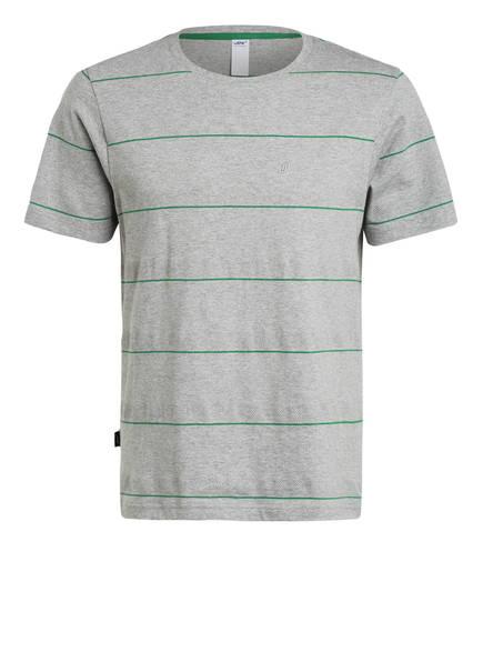 JOY sportswear T-Shirt EMIL , Farbe: GRAU/ GRÜN GESTREIFT (Bild 1)