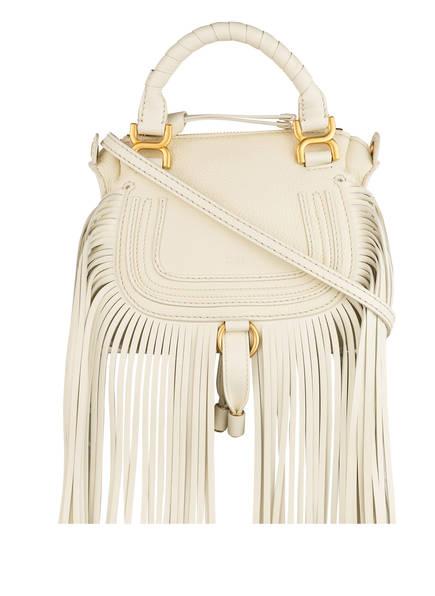 Chloé Handtasche MARCIE MINI mit Fransenbesatz, Farbe: NATUREL WHITE (Bild 1)