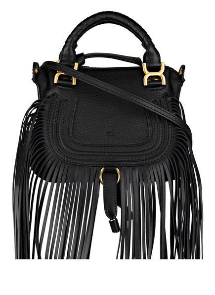 Chloé Handtasche MARCIE MINI mit Fransenbesatz, Farbe: SCHWARZ (Bild 1)