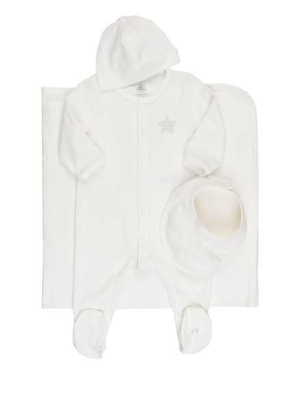PETIT BATEAU Set: Strampler, Lätzchen, Mütze und Decke in Geschenkbox, Farbe: WEISS (Bild 1)