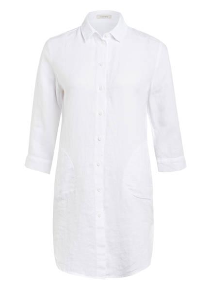 lilienfels Hemdblusenkleid aus Leinen, Farbe: WEISS (Bild 1)