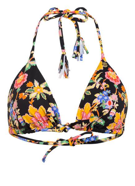 BANANA MOON Triangel-Bikini-Top TREO MANDAPA, Farbe: SCHWARZ/ GELB/ ROSÈ (Bild 1)