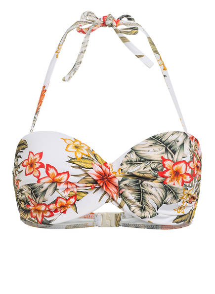 BANANA MOON Bandeau-Bikini-Top SAKATA LAHAINA, Farbe: ECRU/ KHAKI/ ROT (Bild 1)