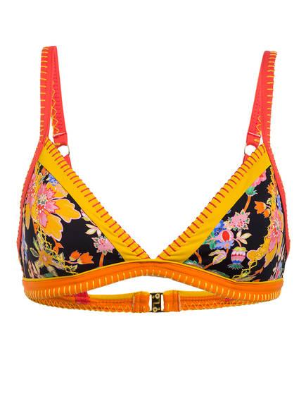 BANANA MOON Triangel-Bikini-Top TAEKO MANDAPA, Farbe: ORANGE/ GELB/ SCHWARZ (Bild 1)