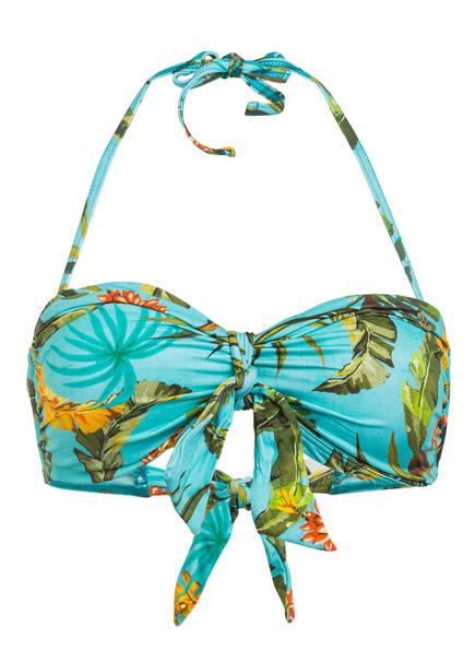 BANANA MOON Bandeau-Bikini-Top TONTO BANANAS, Farbe: MINT/ GRÜN/ GELB (Bild 1)
