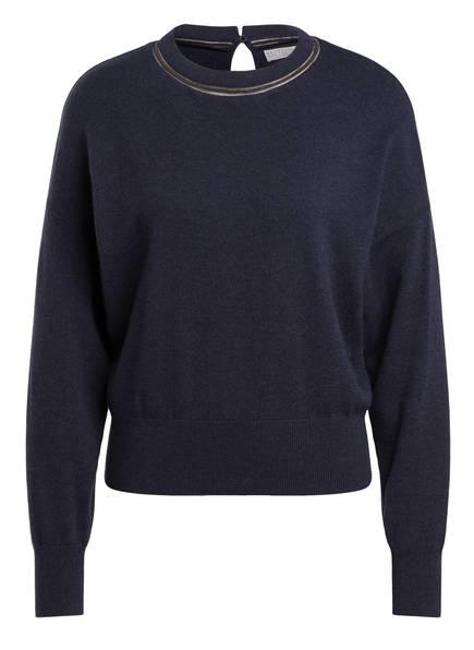 BRUNELLO CUCINELLI Cashmere-Pullover, Farbe: DUNKELBLAU (Bild 1)