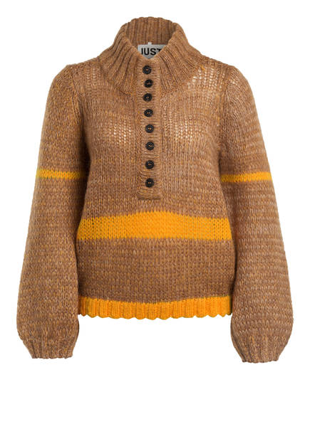 JUST FEMALE Pullover DOLLY mit Mohair, Farbe: CAMEL/ ORANGE (Bild 1)