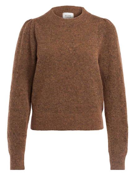 SECOND FEMALE Pullover mit Mohair-Anteil, Farbe: CAMEL (Bild 1)