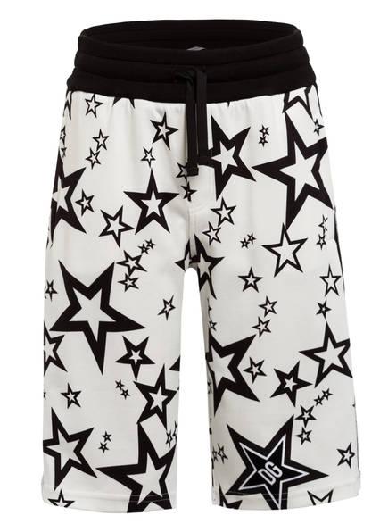 DOLCE&GABBANA Shorts mit Galonstreifen, Farbe: WEISS/ SCHWARZ (Bild 1)