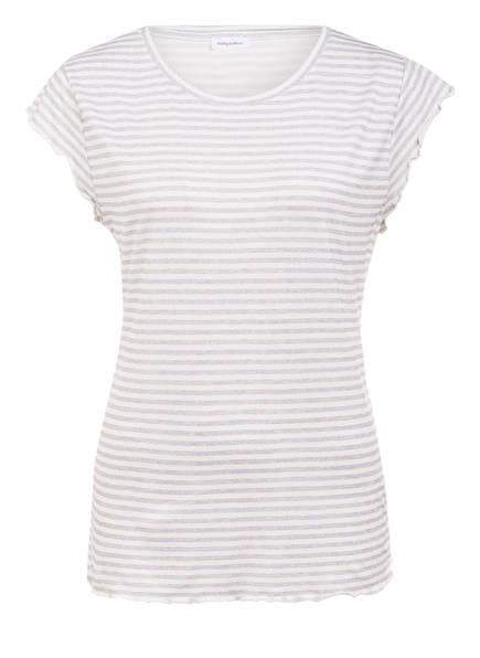 DARLING HARBOUR Schlafshirt, Farbe: WEISS/ GRAU GESTREIFT (Bild 1)