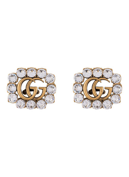 GUCCI Ohrclips GG MARMONT, Farbe: GOLD/ WEISS (Bild 1)
