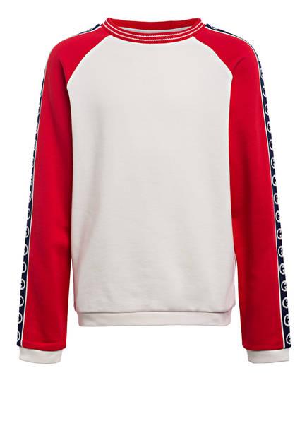GUCCI Sweatshirt mit Galonstreifen, Farbe: ROT/ CREME (Bild 1)